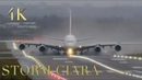 Best Pilots in the World Storm Ciara Crosswind landings and Takeoffs and Go-around Extreme Weather