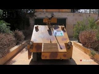 В Сирии моджахеды сделали БТР с пулемётом на управлении пультом от Сони Плейстейшн 3 / ПС3/  Syria rebels unveil cutting-edge homemade tank   PS3