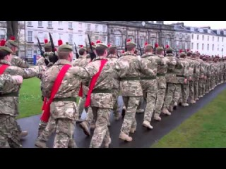 Scots Black Watch Homecoming Parade Perth Perthshire Scotland April 20th