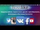 Bosslike Накрутка лайков, подписчиков, комментариев в соц сетях . ютубе