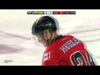 Jiri Hudler Goal (Calgary Flames vs. Nashville Predators - March 15th 2013) HD