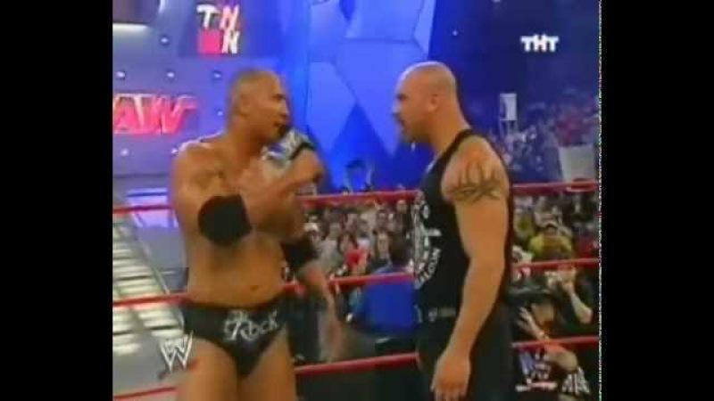 WWE Голдберг Рок RAW 2003 04 07 Фоменко