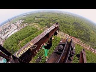 Смертельно опасный трюк на высоте 215 метров! / AlexandeR RusinoV