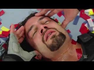 roman reings vs dean ambrose (sheamus, tripl H):  Survivor Series 2015 WWE