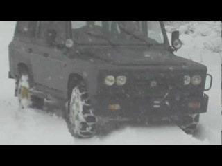 Aro 244 TDi with snow chains