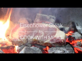 Eisenhower Steak - Bourbon Injected Caveman Style Rib Eye Steak - COOK WITH