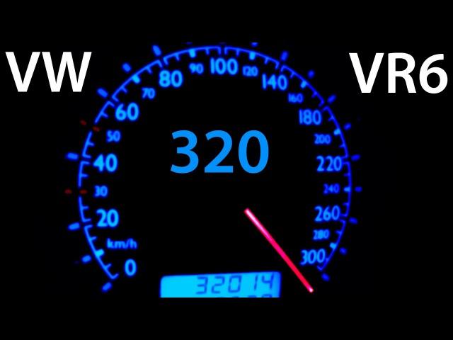 VW Bora VR6 Turbo 0 320 Acceleration Autobahn Onboard Turbo Gockel Beschleunigung Jetta