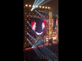 FANCAM 151114 Xiumin, Chen  Sehun @ EXO PLANET #2 - The EXOluXion in OSAKA Day 2