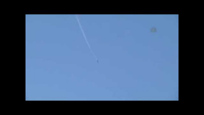 В Сирии сбит самолет СУ 24 ВКС вооруженных сил России Syria shot down a airplane Su 24 Russian