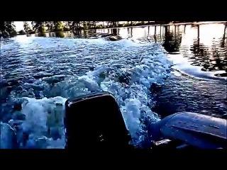 ТЕСТ-ДРАЙВ -обкатка лодочного мотора Golfstream ( Parsun ) Т 8 л.с и лодки ПВХ Сильверадо 30S