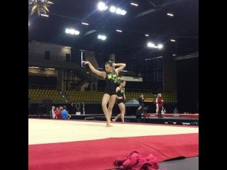 FloGymnastics on Instagram: Dazzling dance & big tumbling from Brooklyn Moors   #Gymnix2016 #internationalgymnix #canada #gymnastics #tumbling