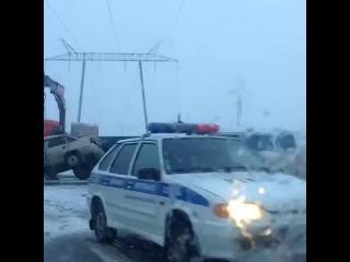 Авария на участке дороги Нижневартовск Мегион 08 10 2014