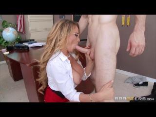 Dirty teacher Corrine Blake teaches an unforgettable lesson [Riding Big tits Doggystyle Cumshot Facial Glasses Blonde Teacher St