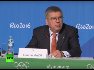 Пресс-конференция главы МОК Томаса Баха