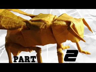 Origami Yellow Jacket/Wasp Tutorial (Robert J Lang) Part 2 - Collapsing