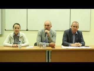 Пресс-конференция в МГУ команды Дмитрия Яромова.