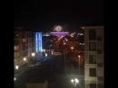 Фестиваль фейерверков в олимпийском парке. Сочи. Вид из окна .