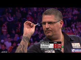 Michael van Gerwen vs Gary Anderson (2017 Premier League Darts / Semi Final)