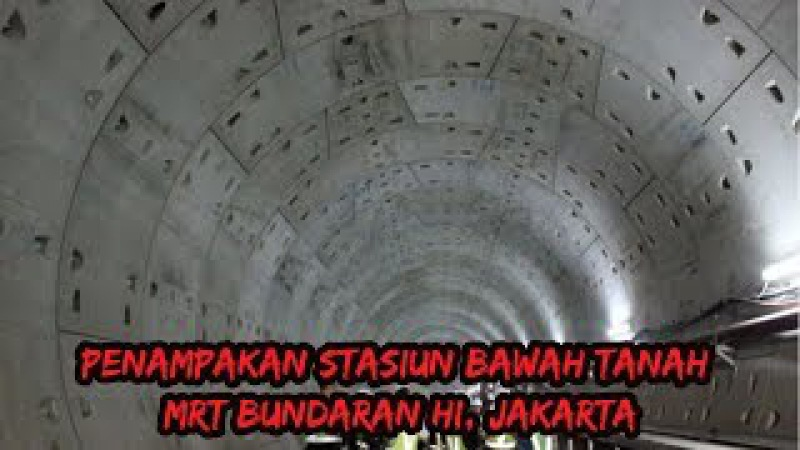 Ini Dia Penampakan Stasiun Bawah Tanah MRT Bundaran HI, Jakarta