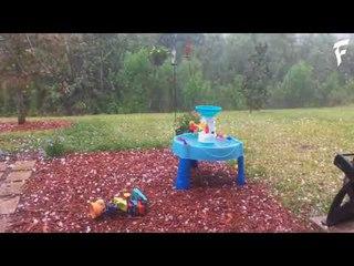 Град в штате Флориде, США | Hail in the state of Florida, USA