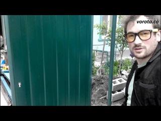 Встроенная калитка для откатных ворот СОВА. Монтаж
