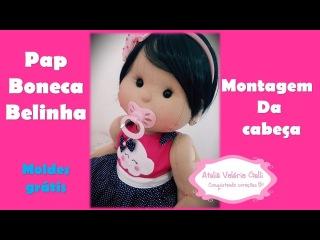 Passo a passo boneca de pano Belinha-fazendo boneca de pano- linda boneca de pano