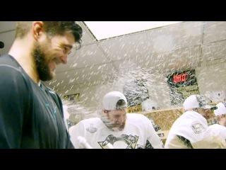 Pittsburgh Penguins 2017 locker room Stanley Cup celebration