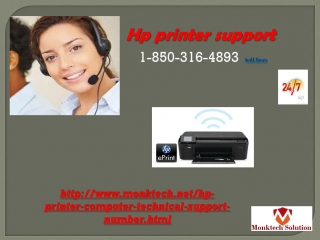 Call Now  1-850-316-4893 hp support number  For Printer Help