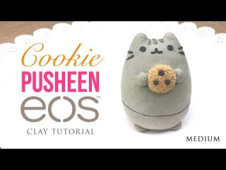 Pusheen Cat & Cookie DIY EOS Clay Tutorial!