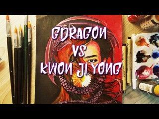 G-Dragon VS Kwon Ji-yong (권지용) With Acrylic Paints (Speed Edit )