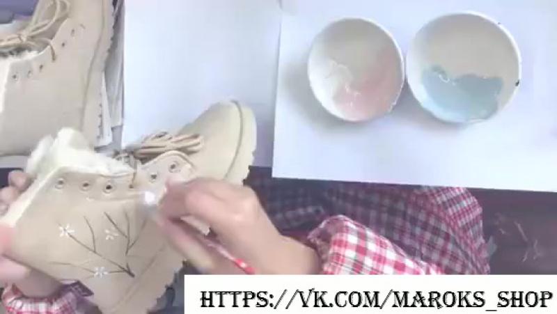 Ботинки зимние женские с оленем. Артикул ББ-89; ББ-90