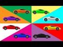 Машинки. Крошка Антошка Учим цвета с гоночными машинами Развивающий мультик