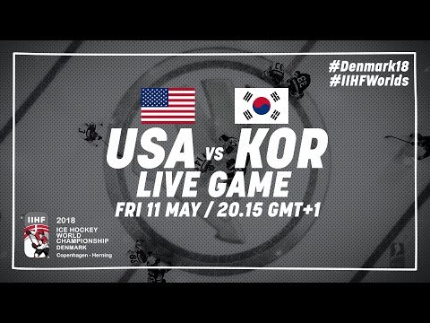 USA Korea Live 2018 IIHF Ice Hockey World Championship