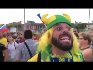 Россия это а*уенно братан 🤘🏻 ! Болельщик Бразилии Томер Савойя