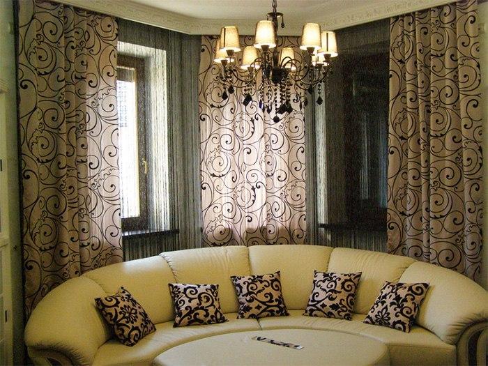 Потолочные шторы в зал — советы и рекомендации по выбору, изображение №17