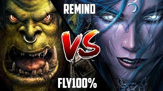 WC3: Fly100% (Orc) vs. ReMinD (Night Elf) [BlizzCon 2010 G2] | Warcraft 3