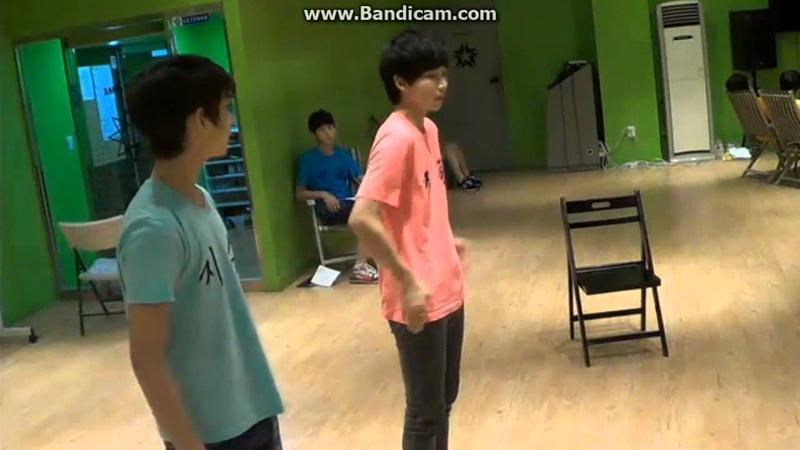 130716 SEVENTEEN TV - Jisoo,Junghan practice together JIHAN