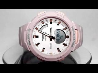 Casio Baby-G BSA-B100-4A2 Bluetooth Step tracker watch video 2018