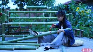 (竹沙发)Using bamboo to make some sophisticated old furniture——Bamboo Sofa Liziqi channel