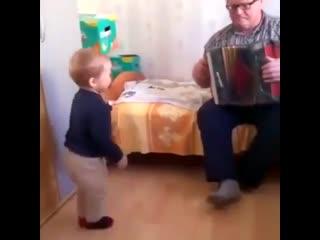 У дедушки с гармошкой