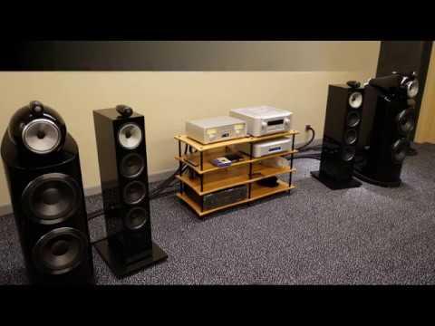 Прослушивание Bowers Wilkins 800 D3 и TEAC NR-7 CD в рамках дилерской конференции.