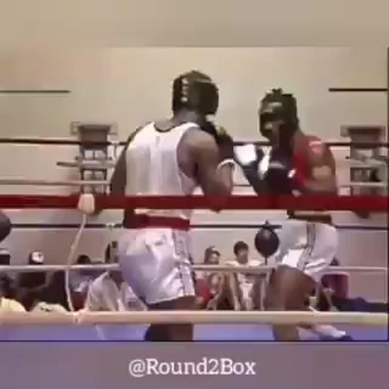 Раритетное видео: Майк Тайсон отправляет в глубокий нокаут. Любительский бокс