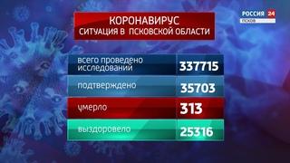 Инфографика. Ситуация по коронавирусу в Псковской области