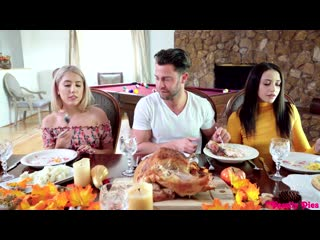 Avi Love and Paisley Bennett - Thanksgiving Is For Creampies [All Sex, Hardcore, Blowjob, Threesome]
