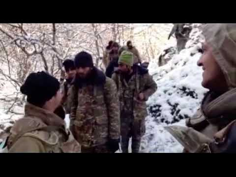 Xüsusi Təyinatlılarımızın əsir götürdüyü erməni terroristləri yeni video