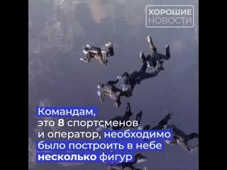 Россияне впервые в истории стали победителями открытого чемпионата по парашютному спорту, проходившему в США.