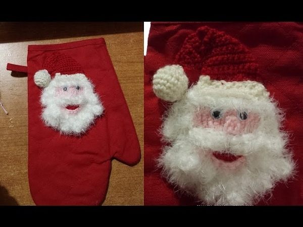 Tutorial presina all'uncinetto natalizia agarradera de ganchillo crochet pot holder