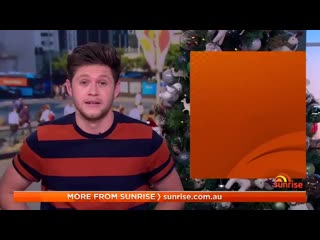 Superstar @NiallOfficial with the @AusOpenGolf sport report on @sunriseon7...  - - And weve gotta say, he did a mighty fine job
