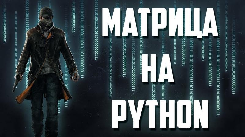 Матрица в CMD на языке программирования PYTHON