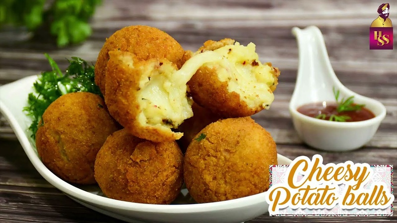 Cheesy Potato Balls चीज़ पटेटो बॉल्ज़ Potato Cheese Balls Veg Snack Recipe ChefHarpalSingh
